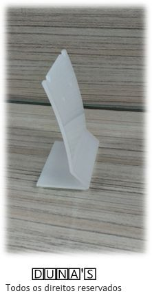Placa de Acrílico para Brinco Individual Fosco ( recorte ) P 6X4.5