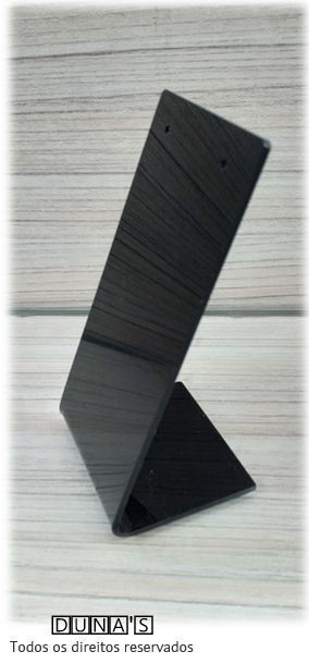 Placa de Acrílico para Brinco Individual Preto 11x6x5