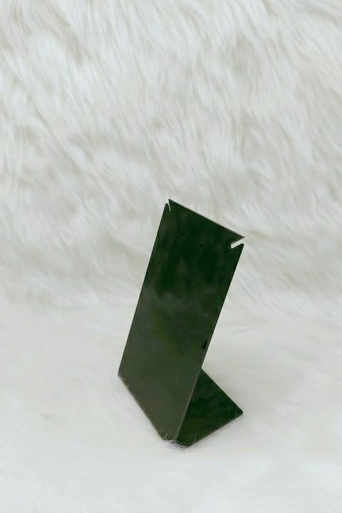 Placa de Acrílico para Brinco Individual Preto 13x7x6 RECORTE