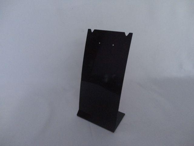 Placa de Acrílico para Brinco Individual Preto 16x8x6