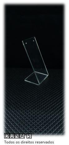 Placa de Acrílico para Brinco Individual Transparente 11x6x5