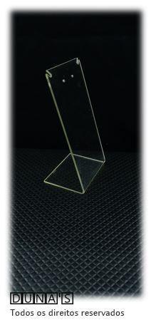Placa de Acrílico para Brinco Individual Transparente 13x7x6