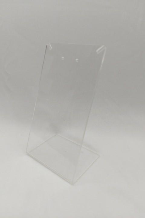 Placa de Acrílico para Brinco Individual Transparente 13x7x6 RECORTE