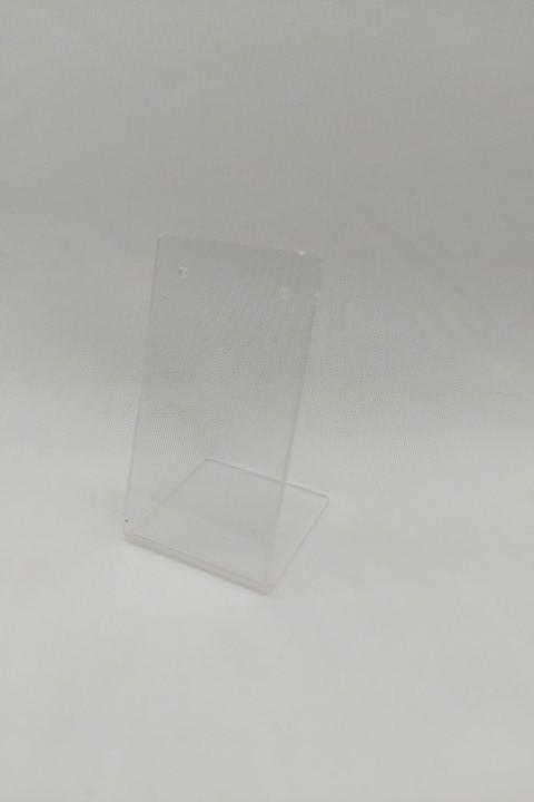 Placa de Acrílico para Brinco Individual Transparente 4x8x3