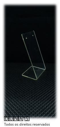 Placa de Acrílico para Brinco Individual transparente   5x10x4