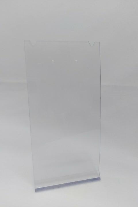 Placa de Acrílico para Brinco Individual Transparente corte colar 16x8x6