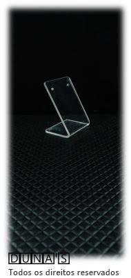 Placa de Acrílico para Brinco Individual Transparente mini 4x5