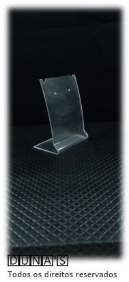 Placa de Acrílico para Brinco Individual Transparente ( recorte ) M 6x8x4