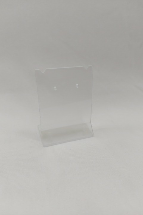 Placa de Acrílico para Brinco Individual Transparente ( recorte ) P 6X4.5