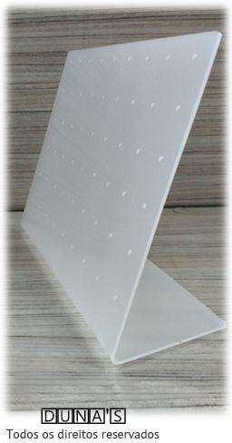 Placa de Acrílico para Brincos Fosco 15x19x6 (54 furos )