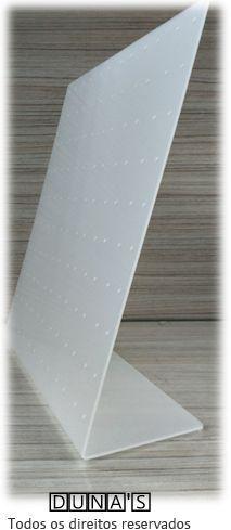 Placa de Acrílico para Brincos Fosco 23x26x8 (120 furos )