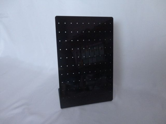 Placa de Acrílico para Brincos Preto 14x20x8( 63 furos )