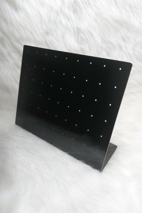 Placa de Acrílico para Brincos Preto 15x19x6 (54 furos )