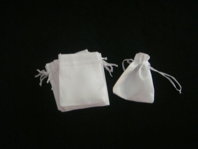 Saco cetim Branco 10x9 pacote com 10 unidades
