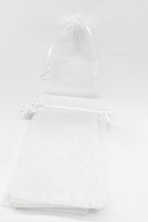 Saco de Organza 10x15 Branco pacote com 10 unidades