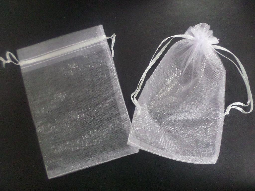Saco de Organza 20x35 Branco pacote com 10 unidades (para chinelo)