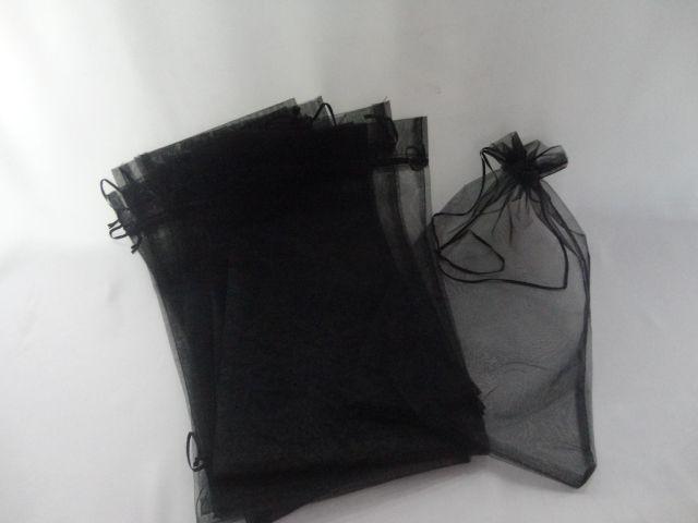 Saco de Organza 20x35 Preto pacote com 10 unidades (para chinelo)
