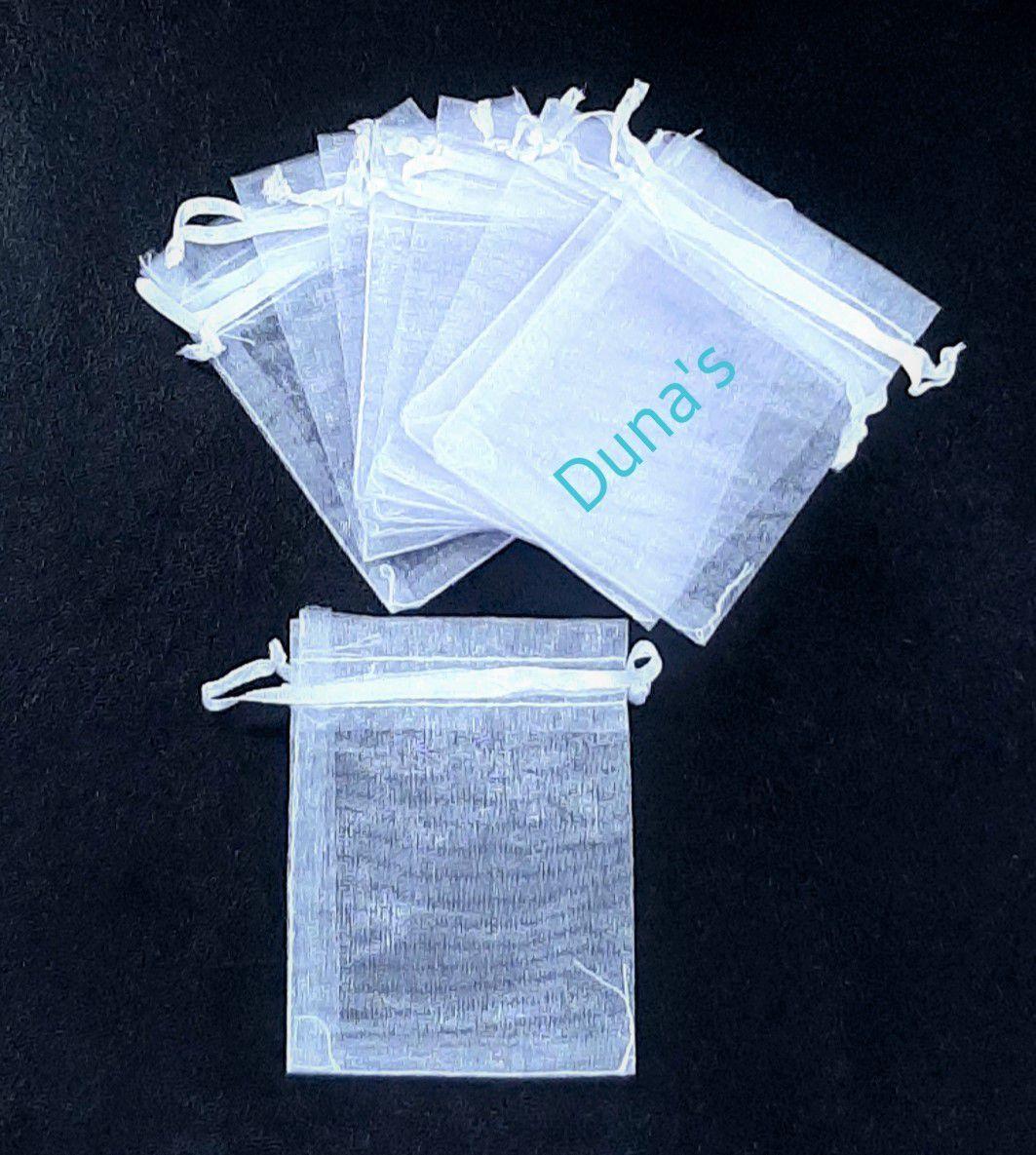 Saco de Organza 7x9 Branco C/10 unidades
