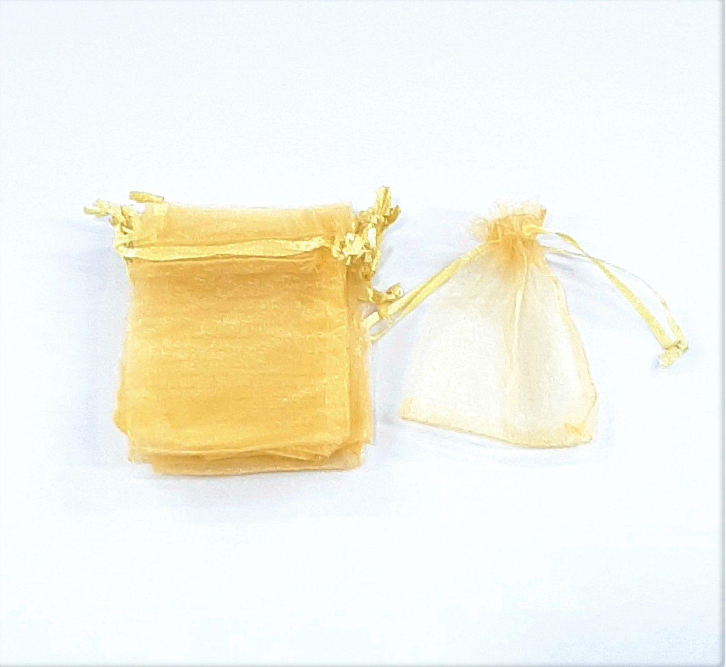 Saco de Organza 7x9 Dourado C/100 unidades
