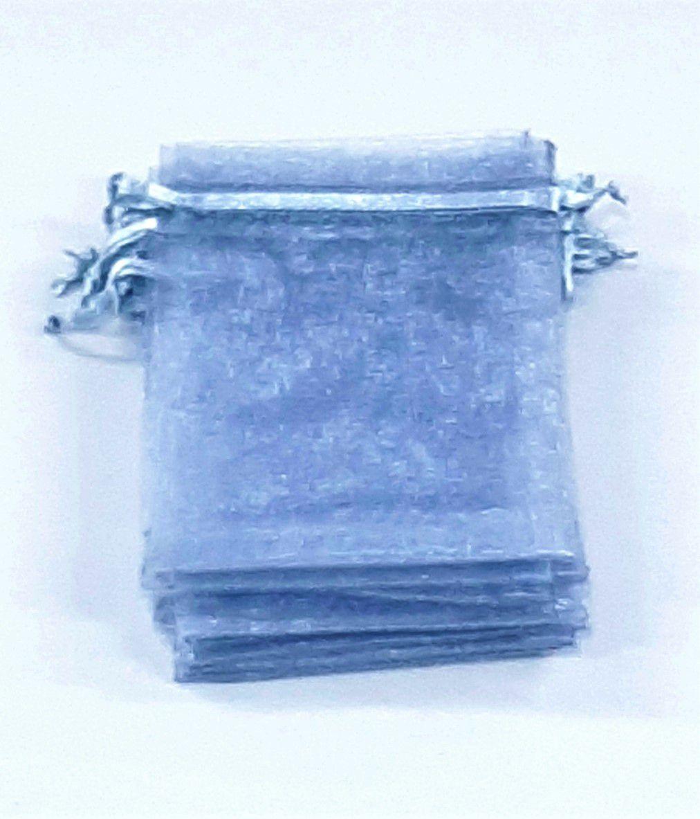 Saco de Organza 9x12 Cinza  pacote com 10 unidades