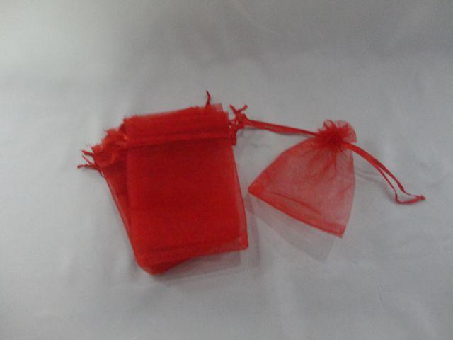 Saco de Organza 9x12 Vermelho pacote com 100 unidades