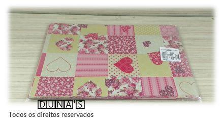 Saco de Presente FLORAL/CORAÇÃO 20x29 pacote c/ 50 unidades