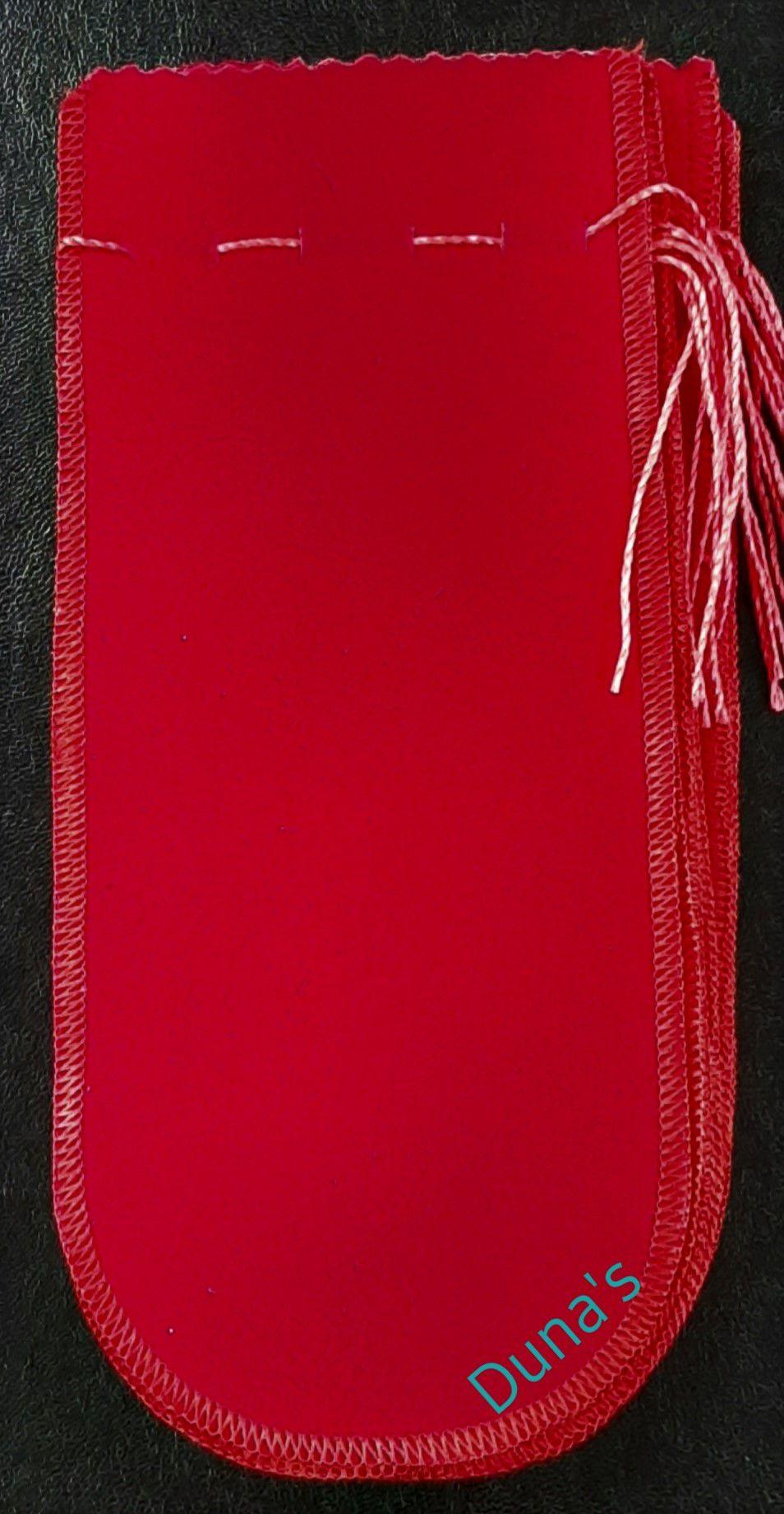Saco de veludo P/ Óculos Vermelho