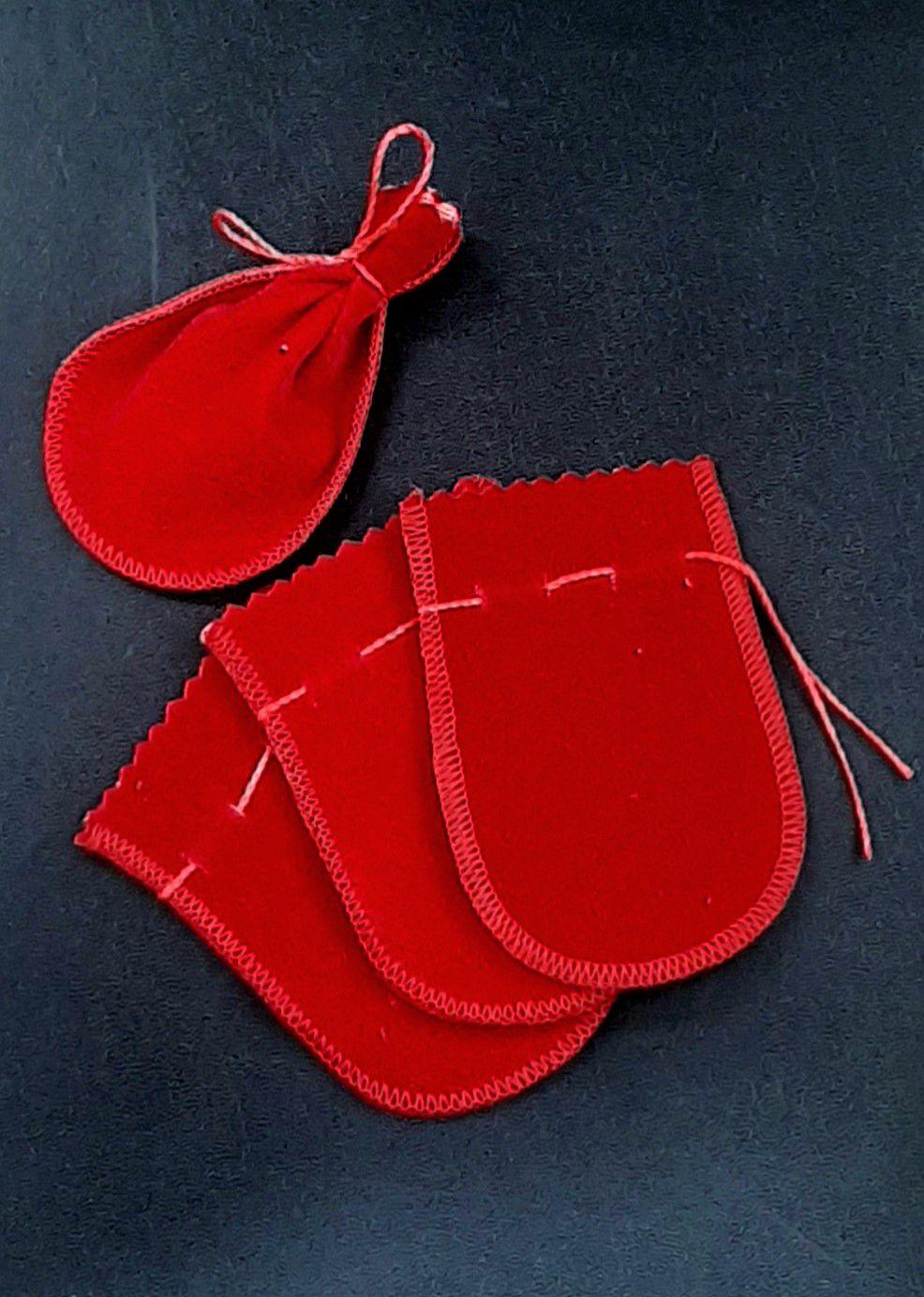 Saco de Veludo Vermelho 6X7