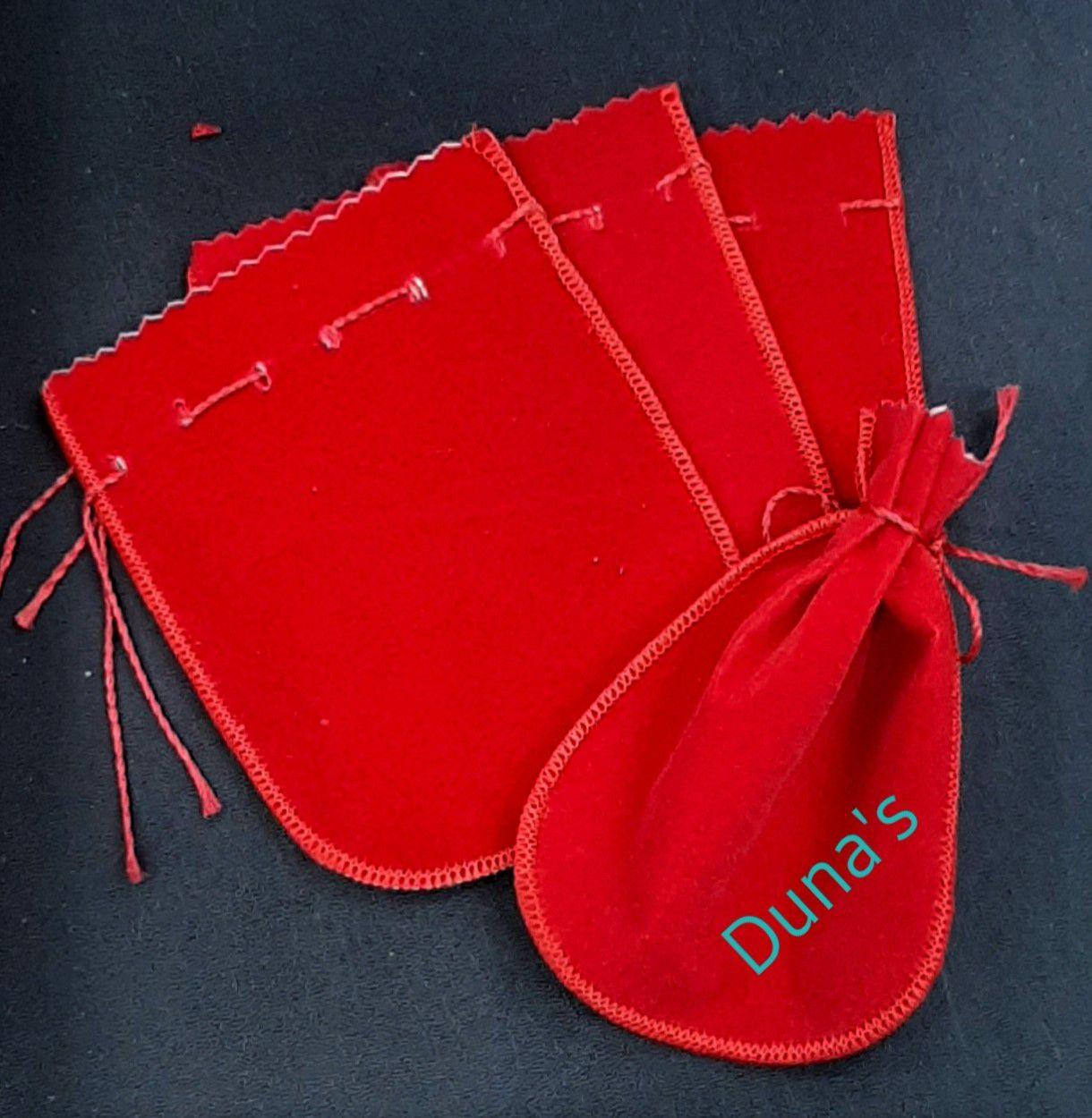 Saco de Veludo Vermelho 10X11