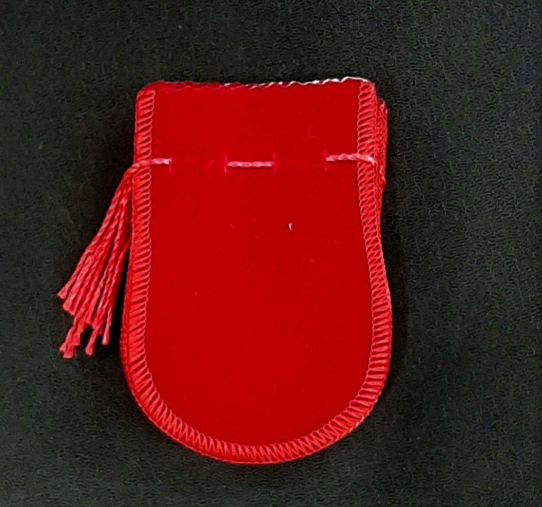 Saco de Veludo Vermelho 6X7 - 10 Unidades