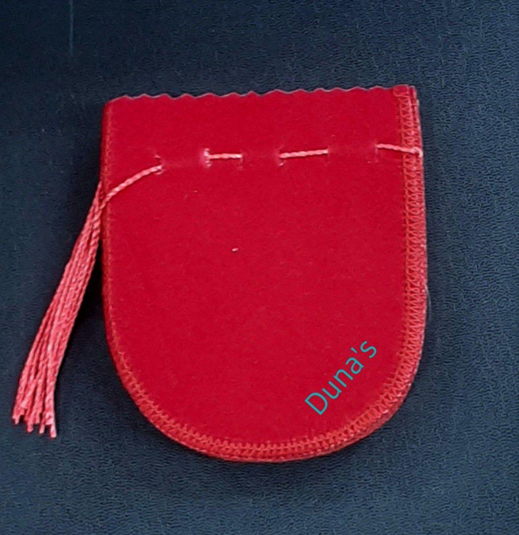Saco de Veludo Vermelho 8X8