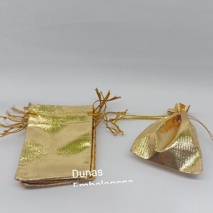 Saco Lame 7X9 Dourado pacote com 10 unidades