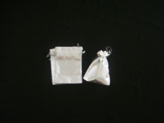 Saco Lame 7x9 Prata pacote com 10 unidades