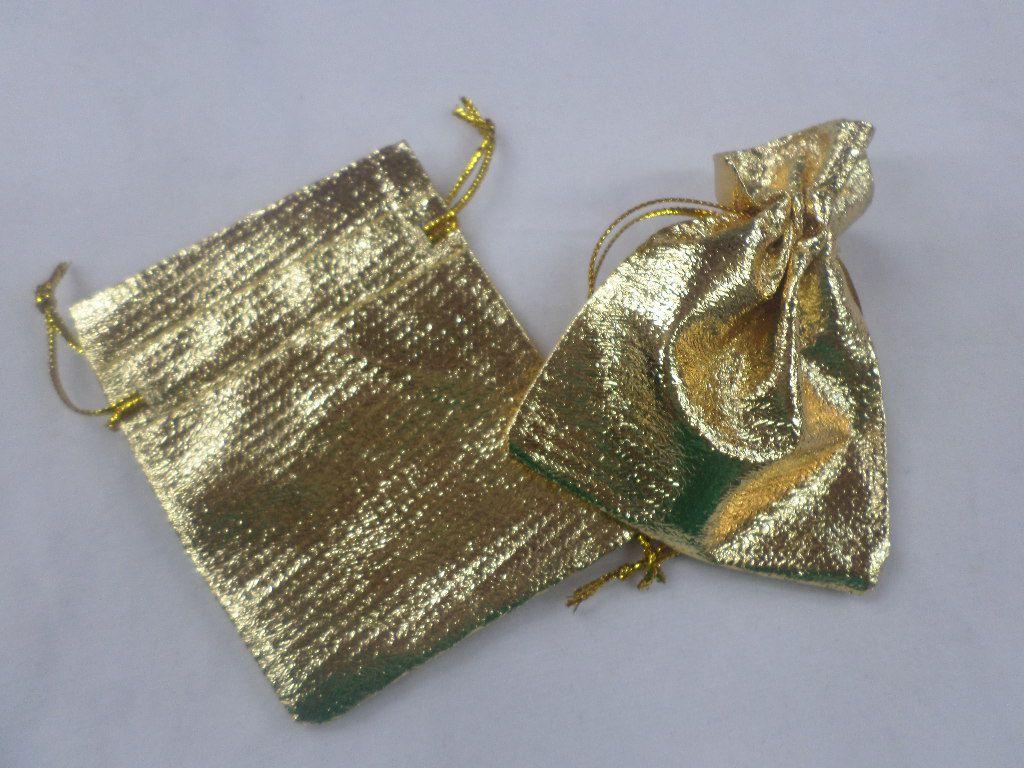 Saco Lame 8x10 Dourado pacote com 10 unidades