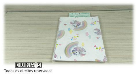 Saco Presente 15x20 BRANCO UNICÓRNIO (pacote com 100 unidades)