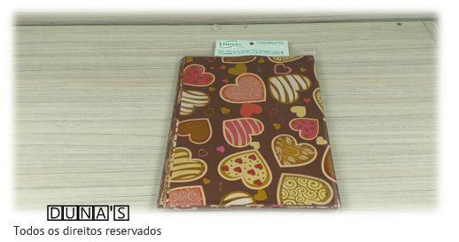 Saco Presente 15x20 MARROM CORAÇÕES  (pacote com 100 unidades)