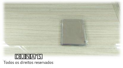 Saco Presente Adesivado 8x8 PRATA LISO (pacote com 100 unidades)