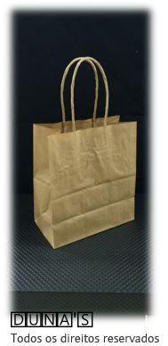 Sacola CRAFT alça de papel 14x16x8 ( pacote com 10 unidades )