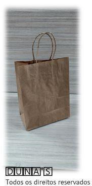 Sacola CRAFT alça de papel  18x22x8 ( pacote com 10 unidades )