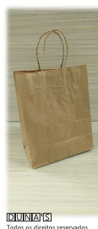 Sacola CRAFT alça de papel  25x31x10.5 ( pacote com 10 unidades )