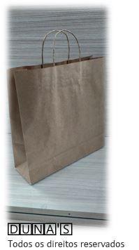 Sacola CRAFT alça de papel  33x31x10,5 ( pacote com 10 unidades )