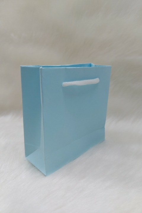 Sacola de Papel AZUL 10x10x5 ( pacotes com 10 unidades )