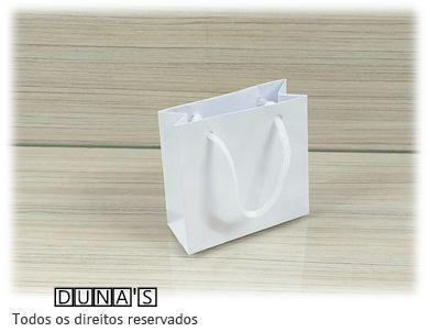 Sacola de Papel BRANCA 10x10x5 ( pacotes com 10 unidades )