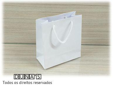 Sacola de Papel BRANCA 13x13x6 ( pacote com 10 unidades )