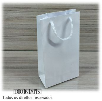 Sacola de Papel BRANCA 18X10X5 ( pacote com 10 unidades )