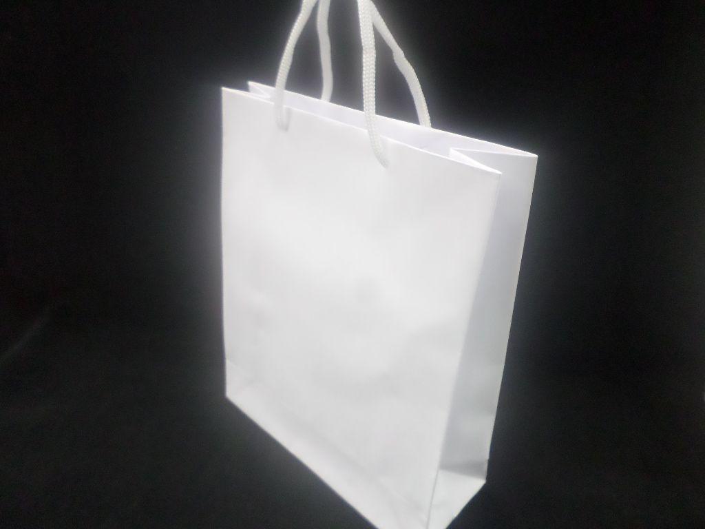 Sacola de Papel BRANCA 20X25X8 ( pacote com 10 unidades )
