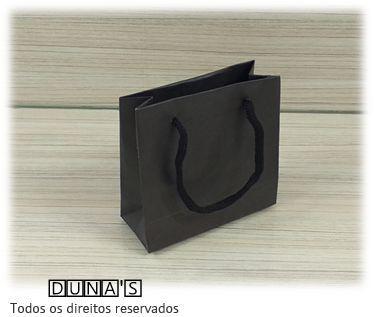 Sacola de Papel PRETO 10x10x5 ( pacotes com 10 unidades )