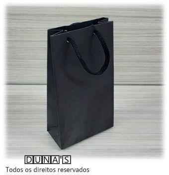 Sacola de Papel PRETO 18X10X5 ( pacote com 10 unidades )