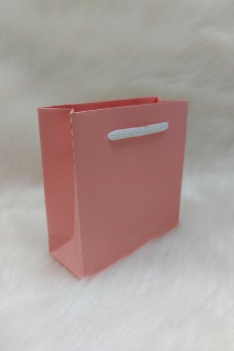 Sacola de Papel SALMÃO - 10x10x5 ( pacotes com 10 unidades )