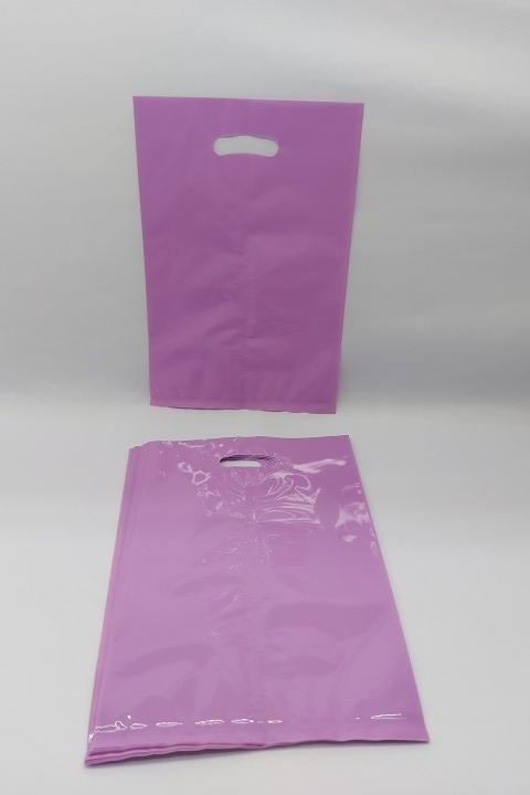 Sacola Llilás pct c/10 unidades 16.5x 25 cm- plástica